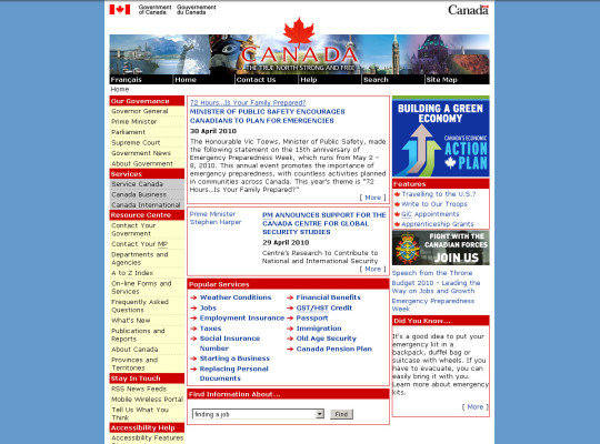 Government of Canada - 2010