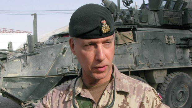 Lt.-Gen. (Ret'd) Andrew Leslie speaks to CBC Radio's The House in his first in-depth interview since retiring from the ranks in Aug. 2011. (Bill Graveland/The Canadian Press)